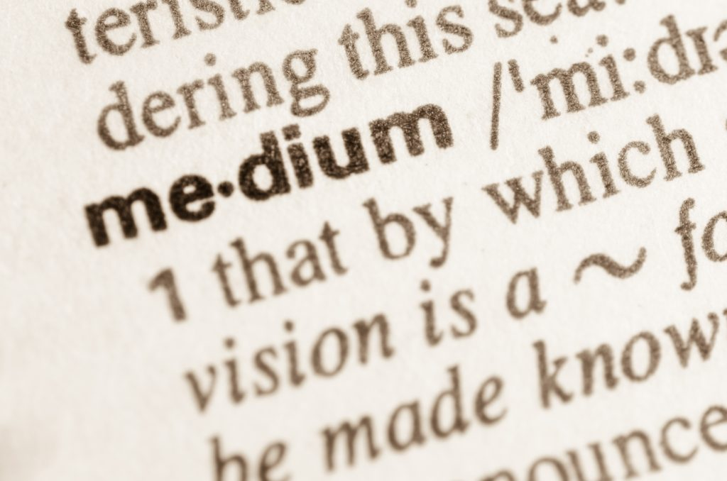 Dictionary definition of word medium – Moriah the Medium
